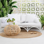 Carol's Rattan Coffee Table
