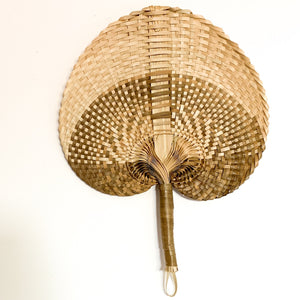 Pre Order - Cream and Natural Boho Decorative Fan - Ocean Luxe