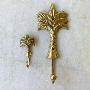 Gold Palm Tree Brass Hook