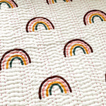 Rainbow cot quilt: Oean Luxe