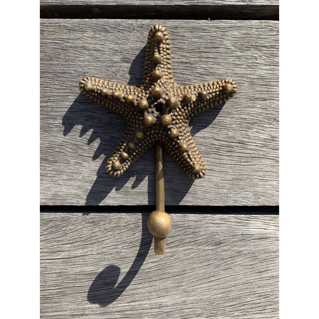 Starfish Brass Hook - Ocean Luxe