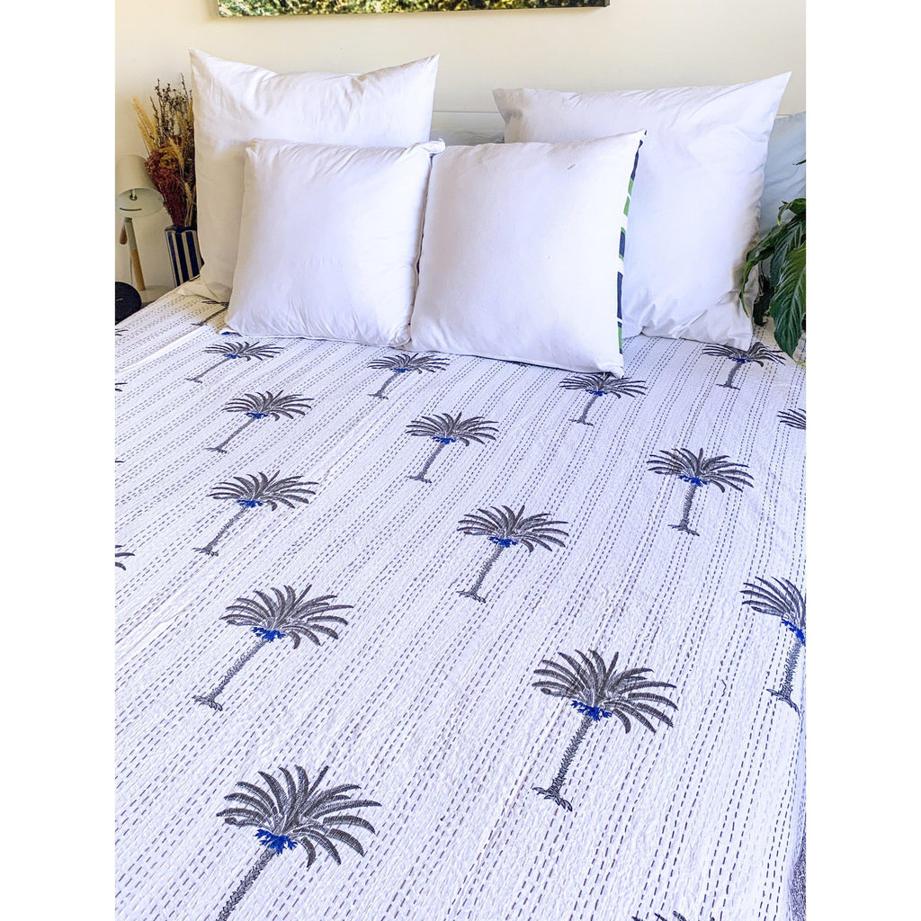 Palm Tree Quilt:Ocean Luxe