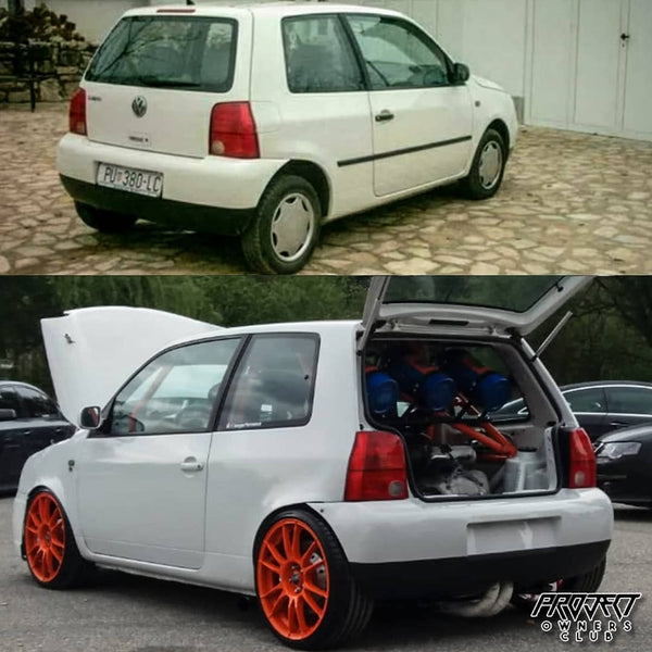 rear vw lupo r32 vr6 v6 800bhp nos twin engine