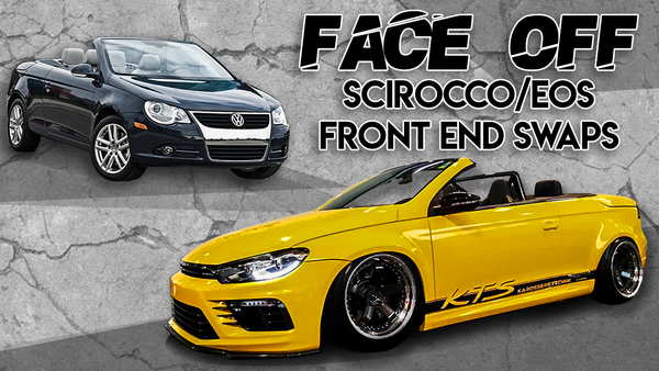 Banner Vw Eos Scirocco front end swap facelift transform build