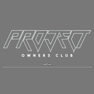 Large Window Banner Decal - 40cm White - Project Owners Club