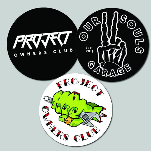 Triple Sticker Pack - Project Owners Club
