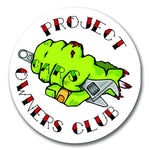 Project Owners Club Fist  80mm Vinyl Sticker - Project Owners Club