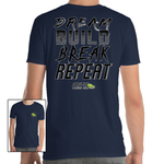 'Dream, Build, Break, Repeat' - T-Shirt - Project Owners Club