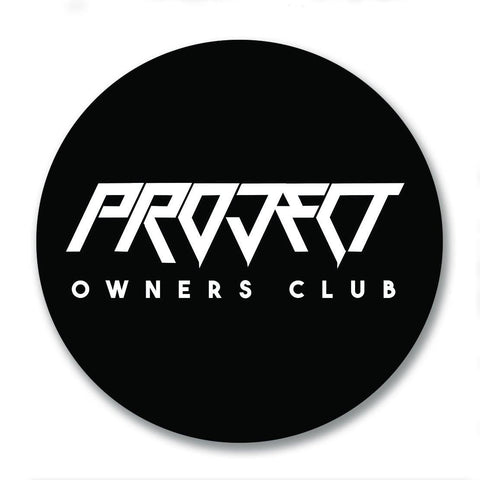 Project Owners Club Badge 80mm Vinyl Sticker
