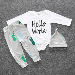 """Hello World"" set (3-delig)"