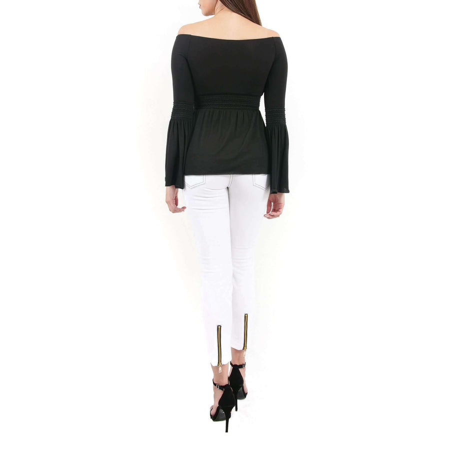 Flared Sleeve Bardot Top