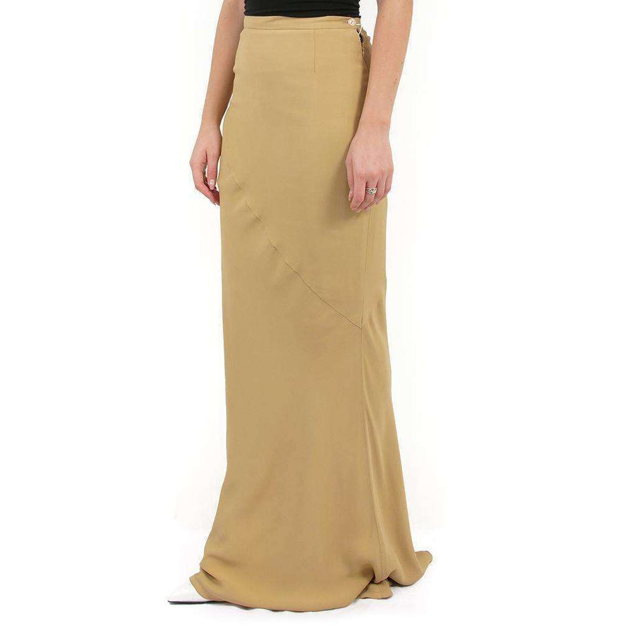 Light Brown Crepe Skirt