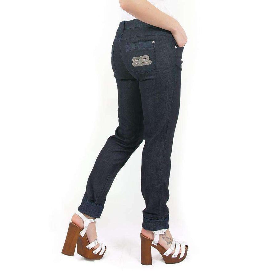 Straight Leg Hipster Jeans