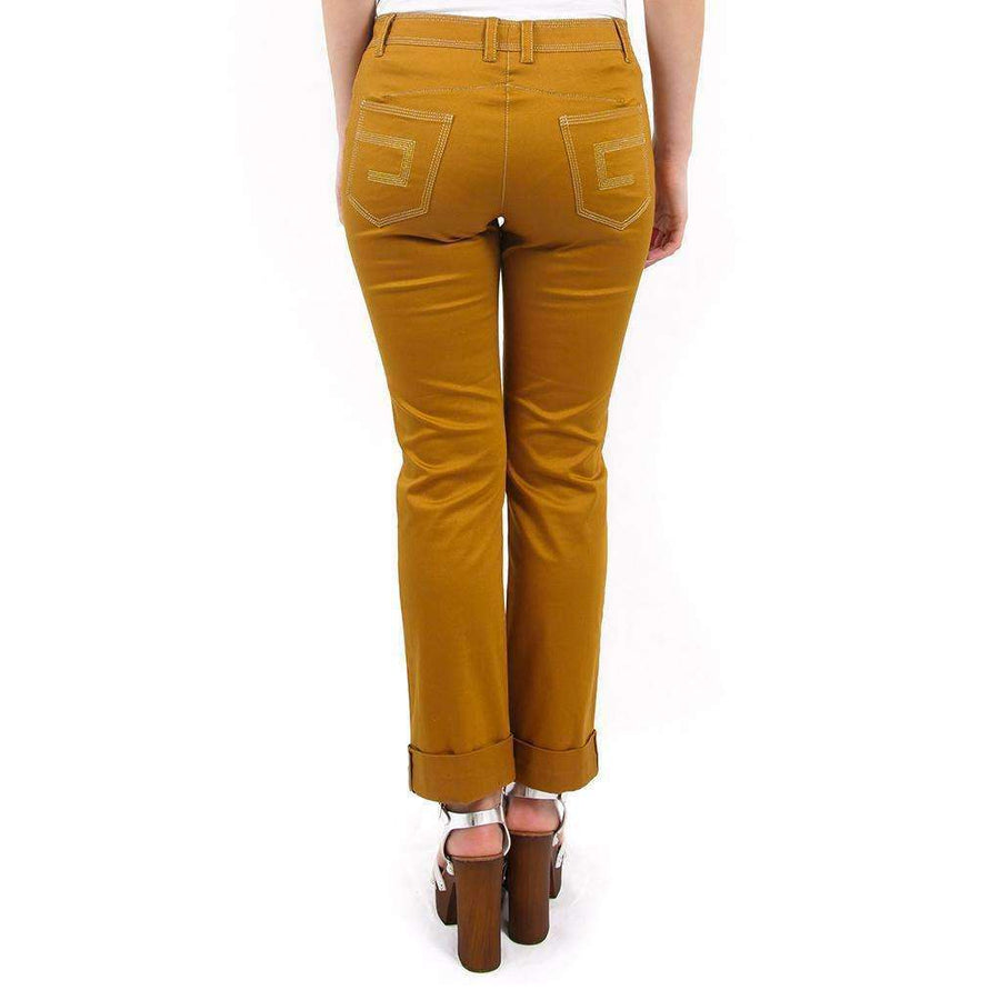 Brown Mid Rise Jeans