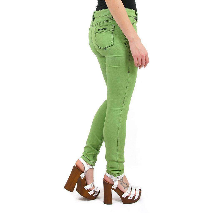 Green Mid Rise Jeans