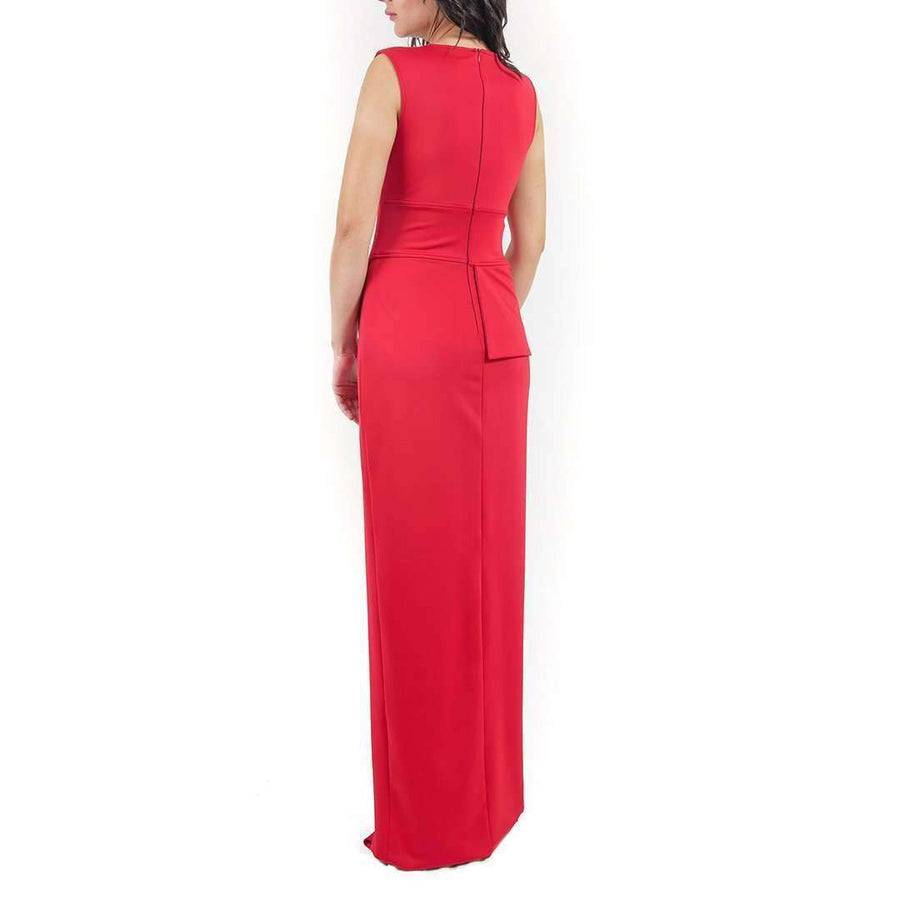 Sleeveless Scuba Evening Dress