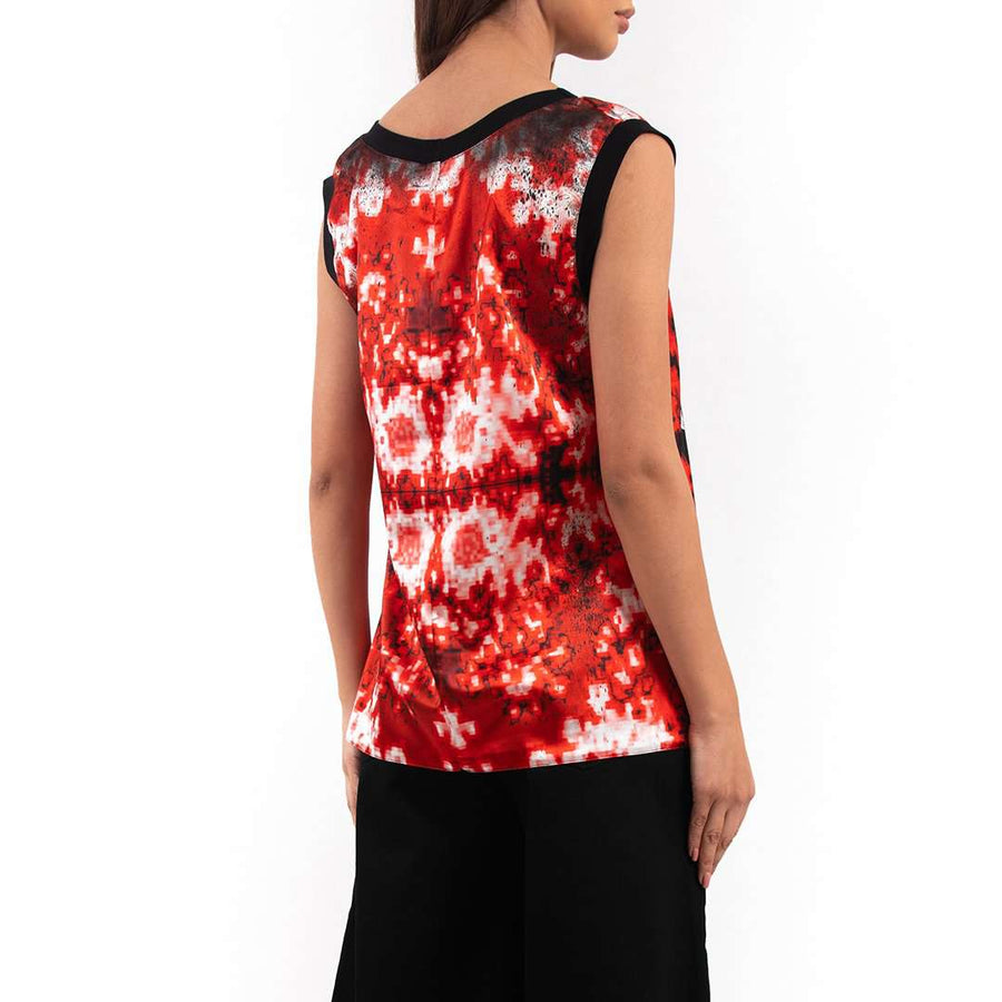 Baroque Design Sleeveless Top