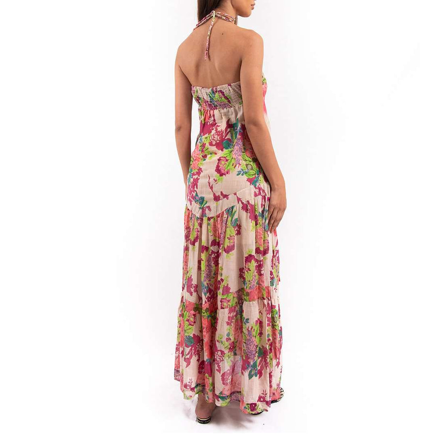 Floral Prints Patch Maxi Dress
