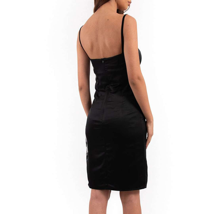 Black Silk Bodycon Dress