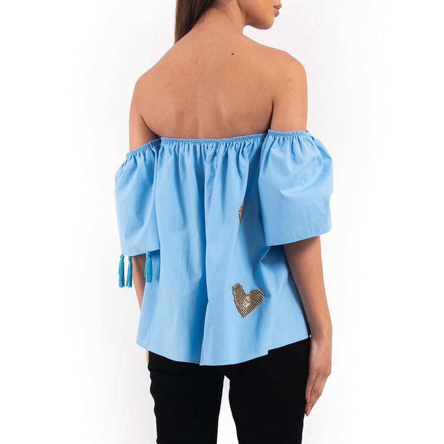 Embellished Off Shoulder Top