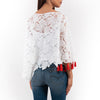 White Embellised Lace Blouse