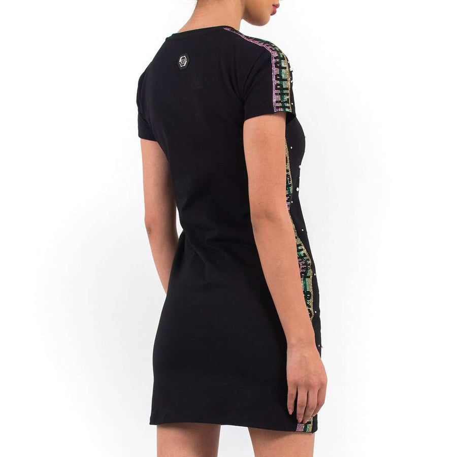 Crystal Studded Mini Dress