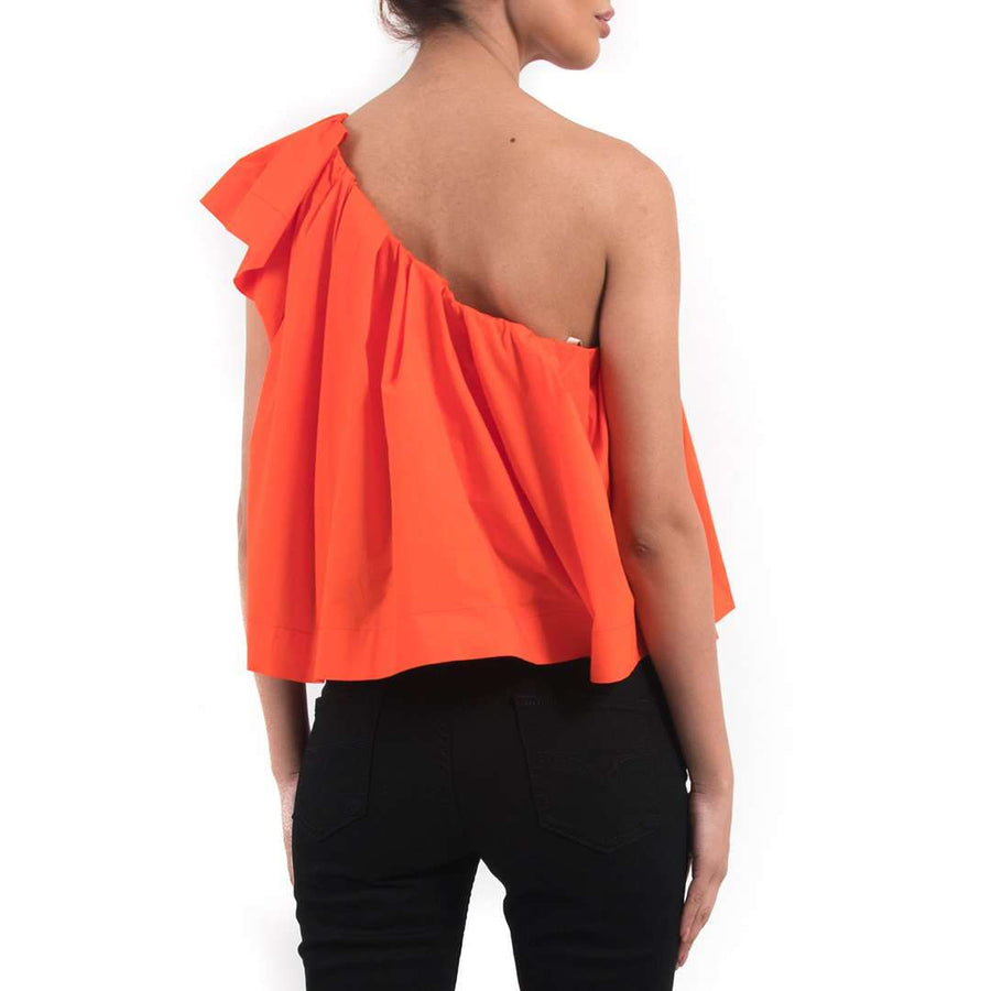 Ruffled One shoulder Top