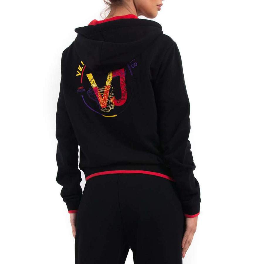 Embroidered Logo Hooded Jacket
