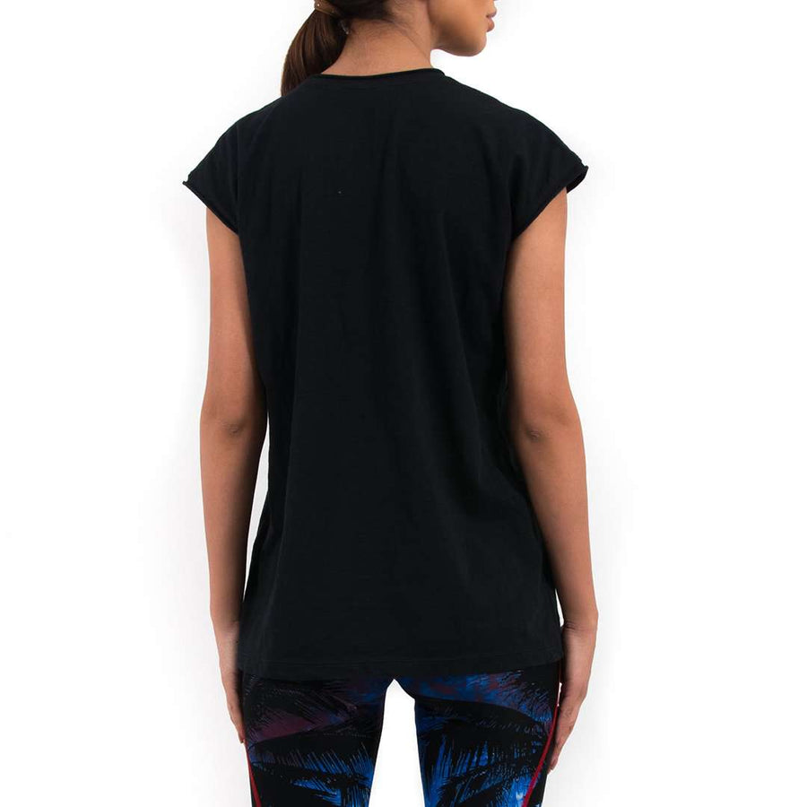 Sequin Embroidered Cotton T-shirt