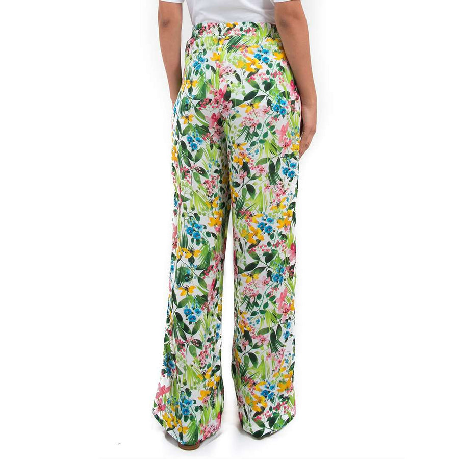 Ermanno Scervino Floral Silk Trousers