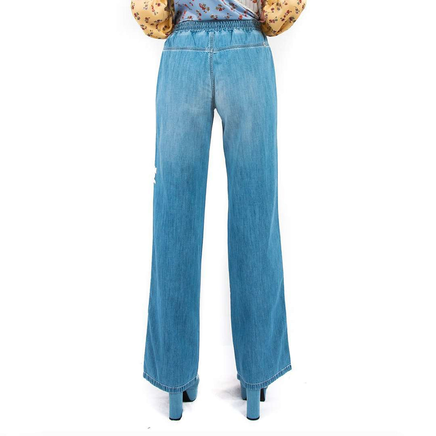 Ermanno Scervino Embroidered Denim Pants