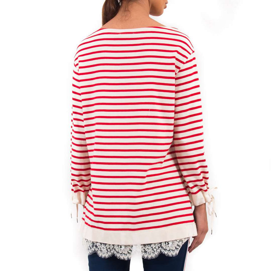 Ermanno Scervino Striped Lace Tshirt
