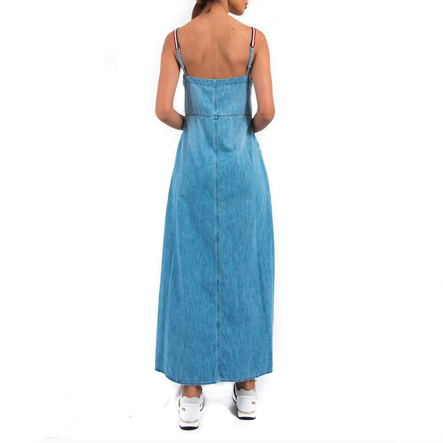 Ermanno Scervino Denim Maxi Dress