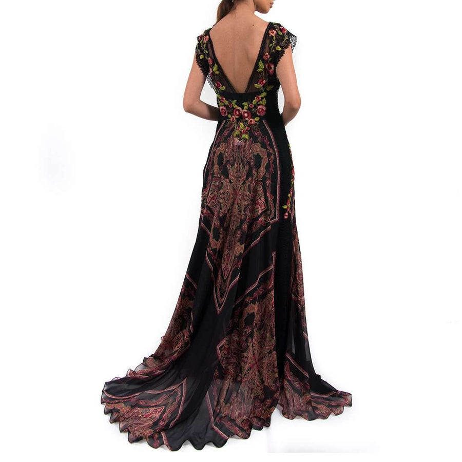 Alberta Ferretti Embroidered Long Dress