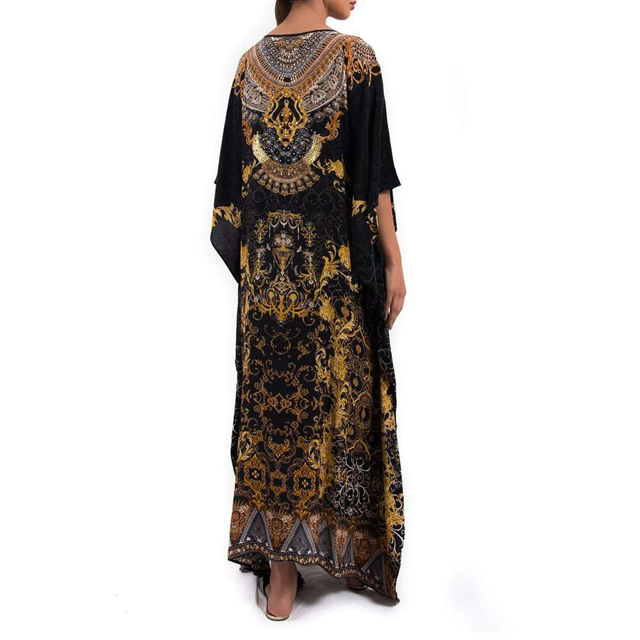 Long Silk Kaftan
