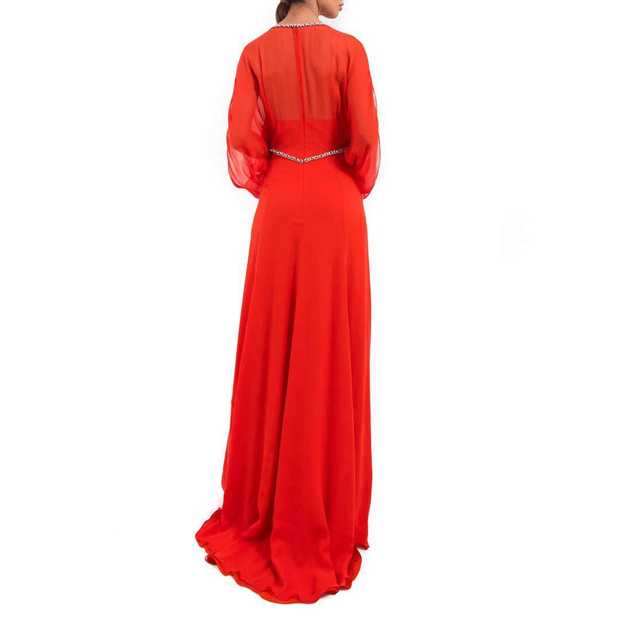 Jenny Packham Long Red Dress