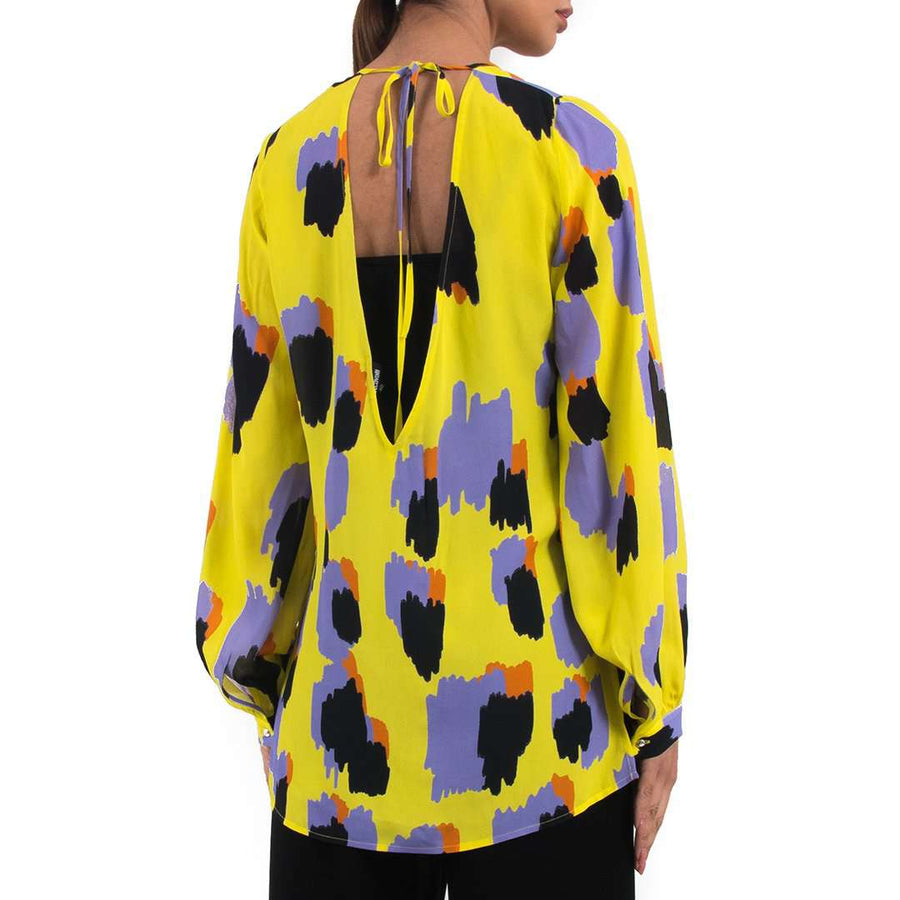 Just Cavalli Yellow Printed Blouse