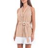 Alexis Brown Striped Short Dress