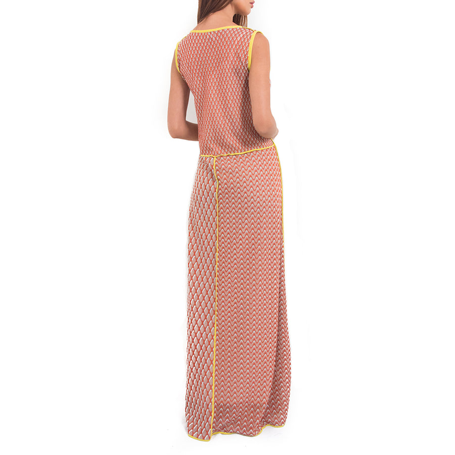 Contrast Trim Maxi Dress