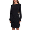 Button Jersey Mini Dress