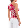 Striped One Shoulder Top