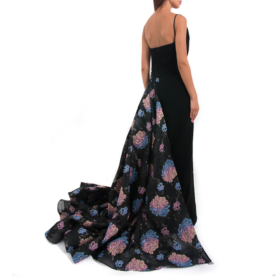 Floral Overskirt Gown