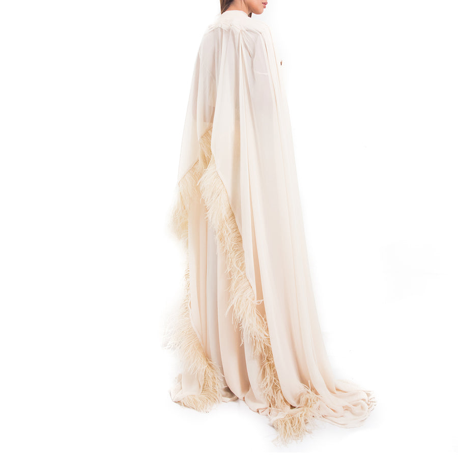 Sequin Cape Gown