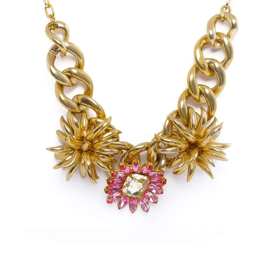 Flower shaped Pendant Necklace.