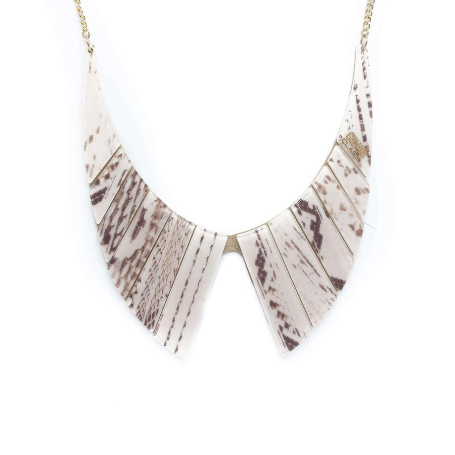 Geo Shaped Beige Necklace