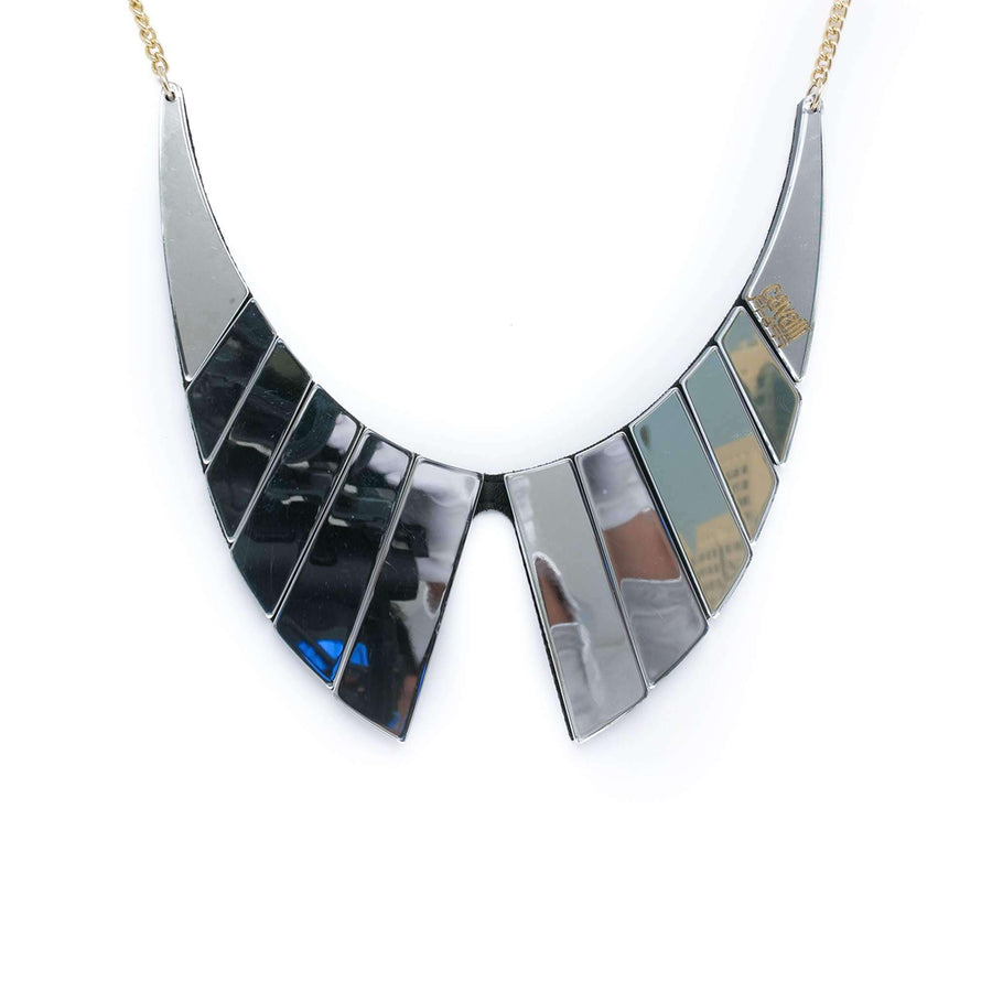 Geo shaped Mirror Effect Necklace