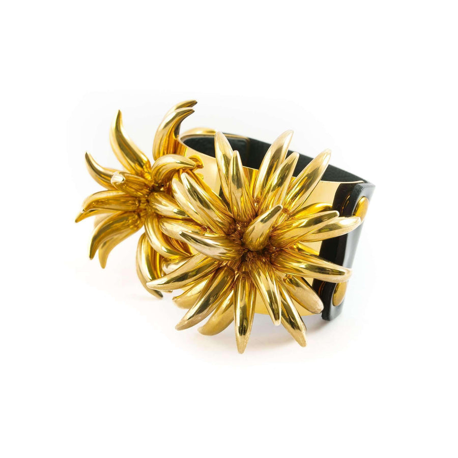 Gold Flower Embellished Bracelet