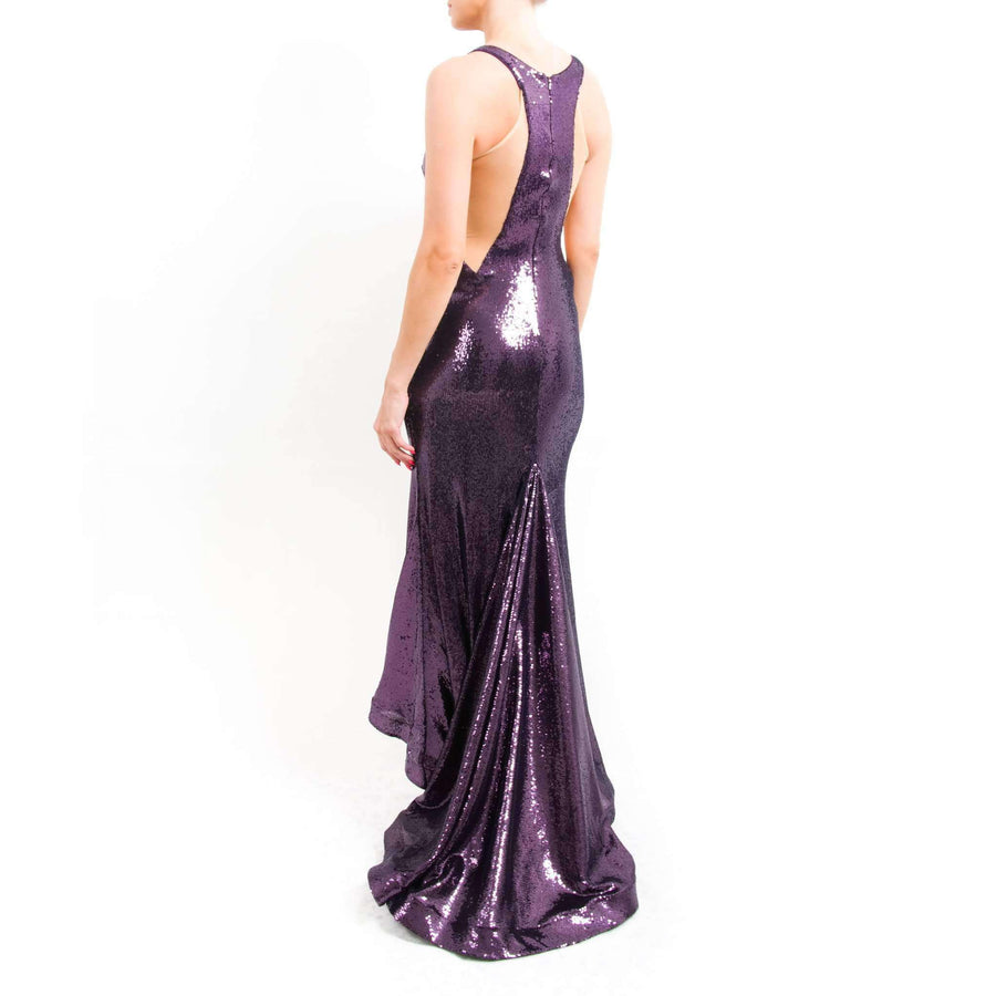 Eggplant Mermaid Prom Dress