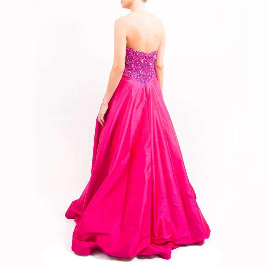Strapless Beaded Evening Dress
