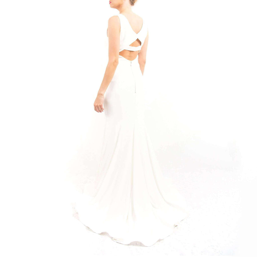 Ivory Sleeveless Prom Dress